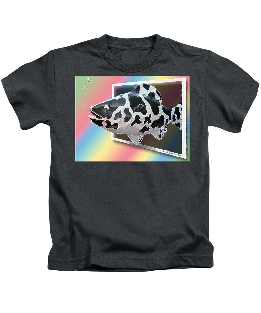 2d Kids T-Shirt featuring the photograph Art Fish Fun by Brian Wallace