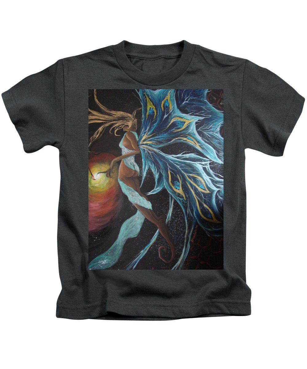 Figure Kids T-Shirt featuring the painting Art Is Magic by Glory Fraulein Wolfe