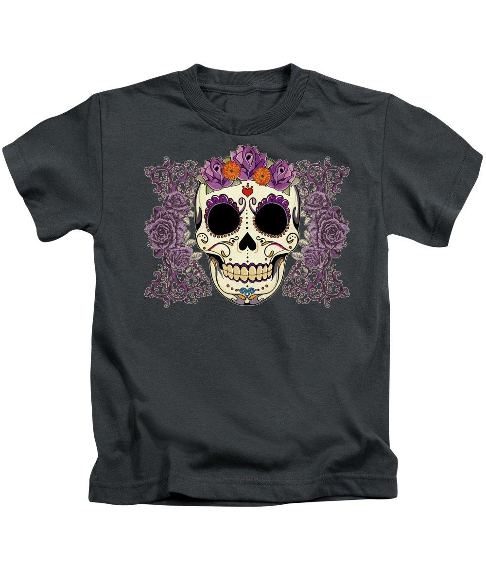 Purple Digital Art Kids T-Shirts