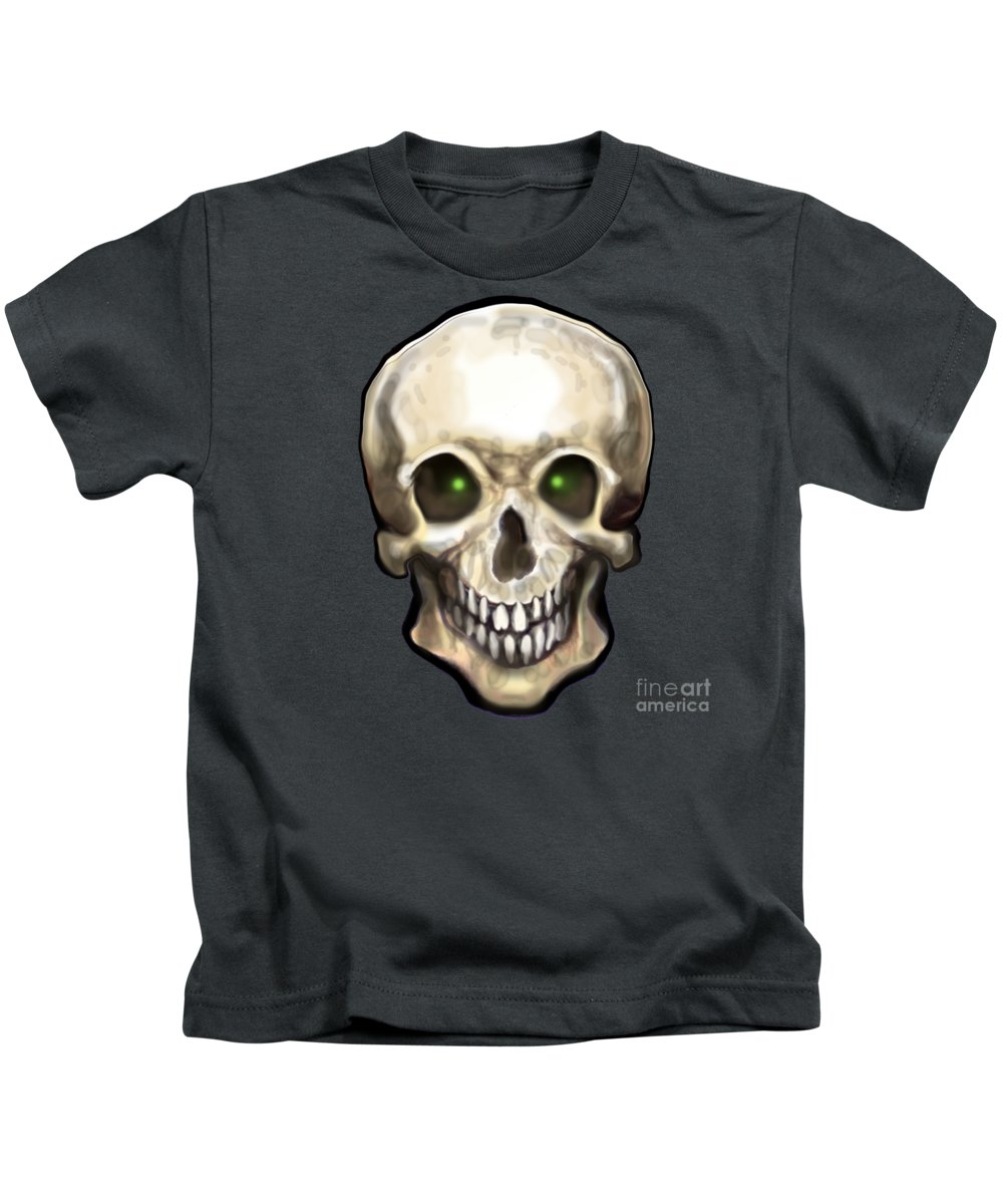 Skull Kids T-Shirt featuring the painting Skull by Kevin Middleton