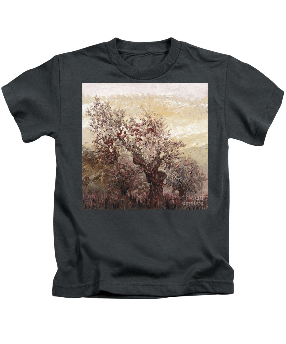 Landscape Kids T-Shirt featuring the painting Asian Mist by Nadine Rippelmeyer