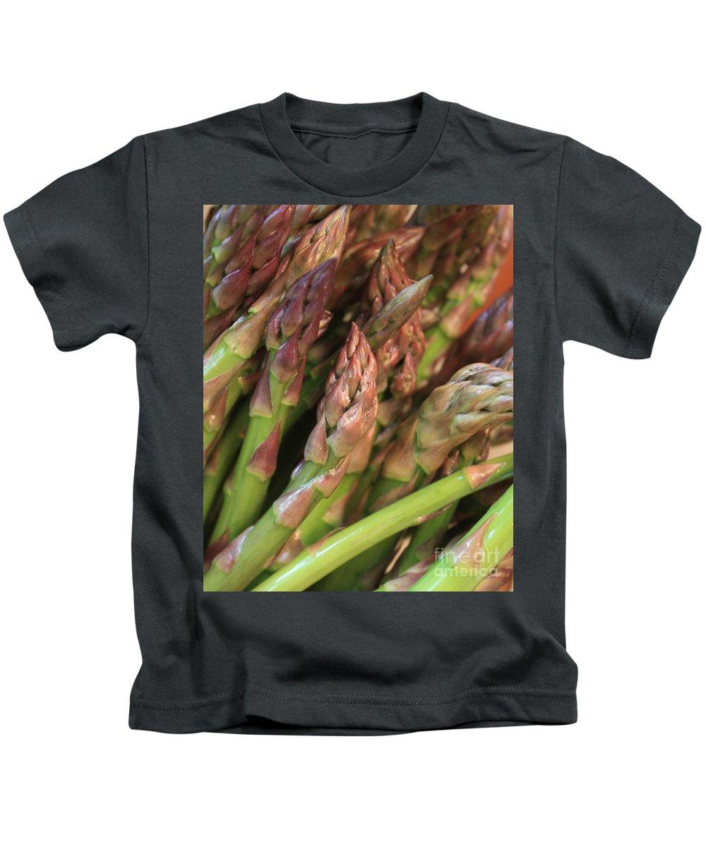Asparagus Kids T-Shirt featuring the photograph Asparagus Tips 2 by Carol Groenen