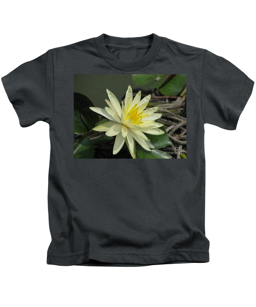 Lilly Kids T-Shirt featuring the photograph At The Pond by Amanda Barcon