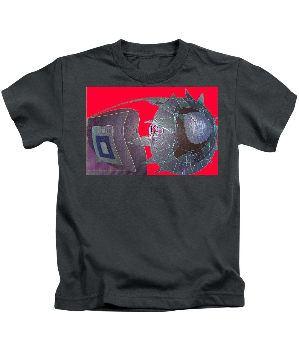 Digital Kids T-Shirt featuring the digital art Attack by Ian MacDonald