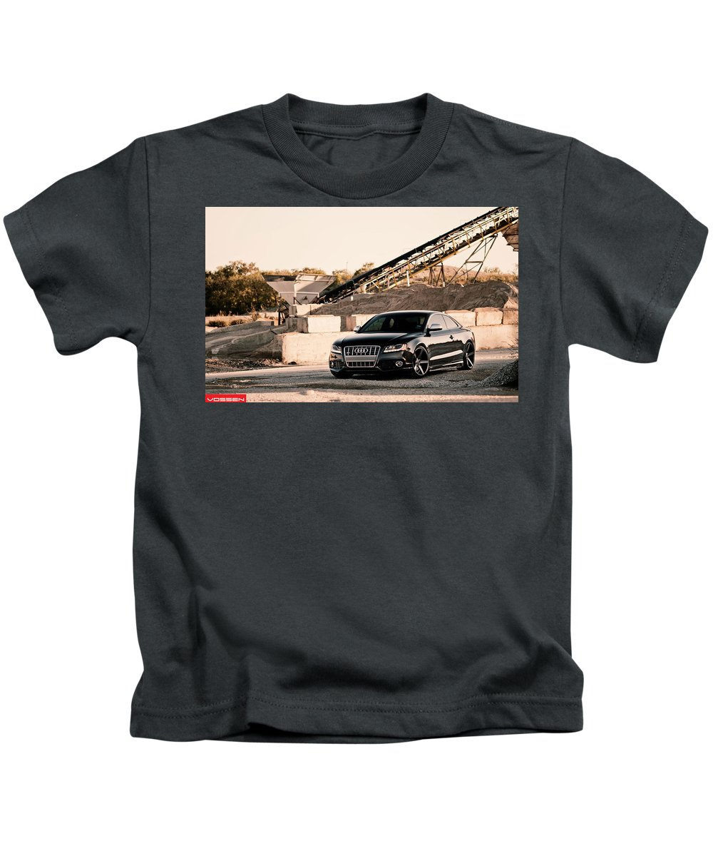 Audi S5 Kids T-Shirt featuring the digital art Audi S5 by Dorothy Binder