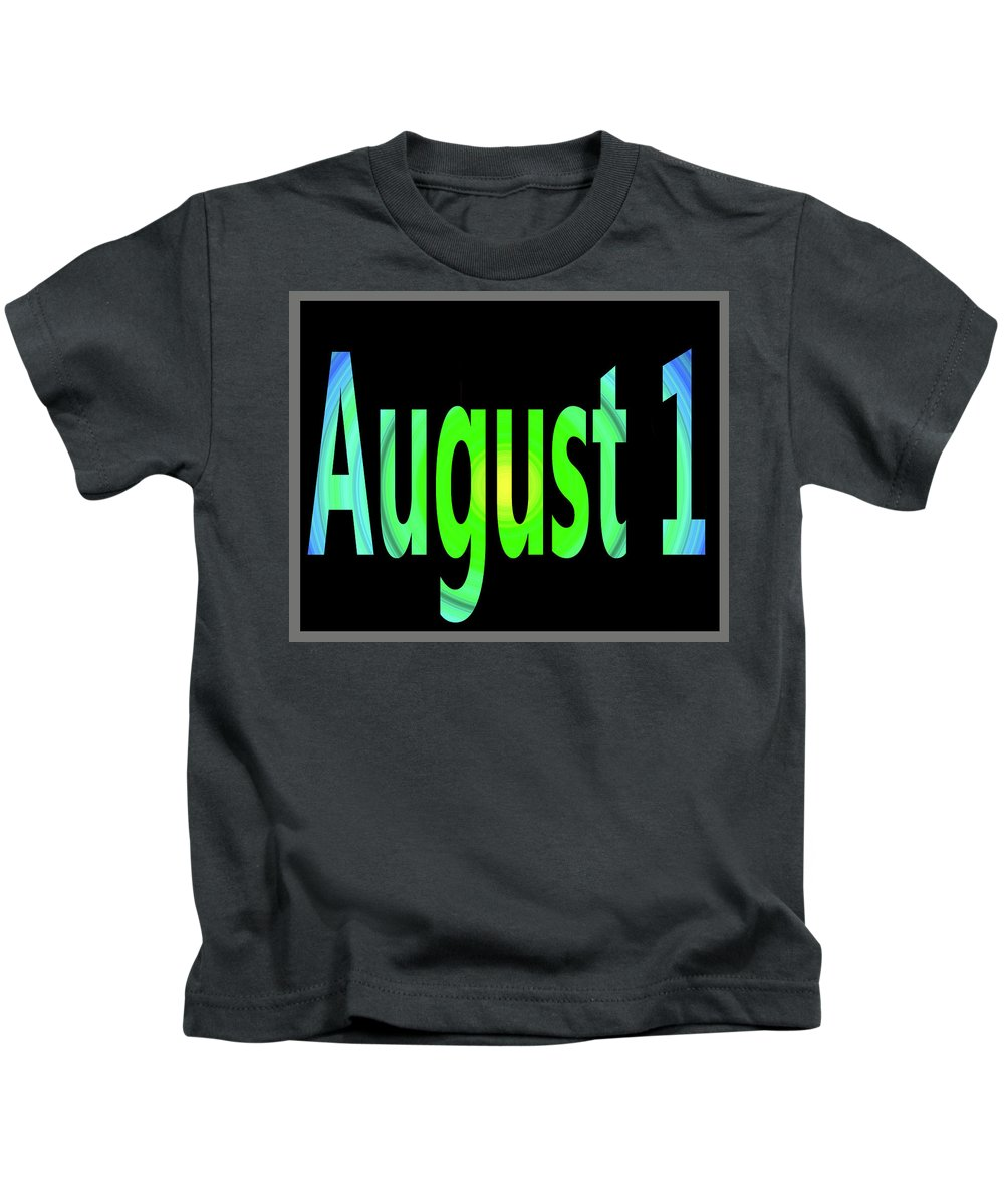 August Kids T-Shirt featuring the digital art August 1 by Day Williams