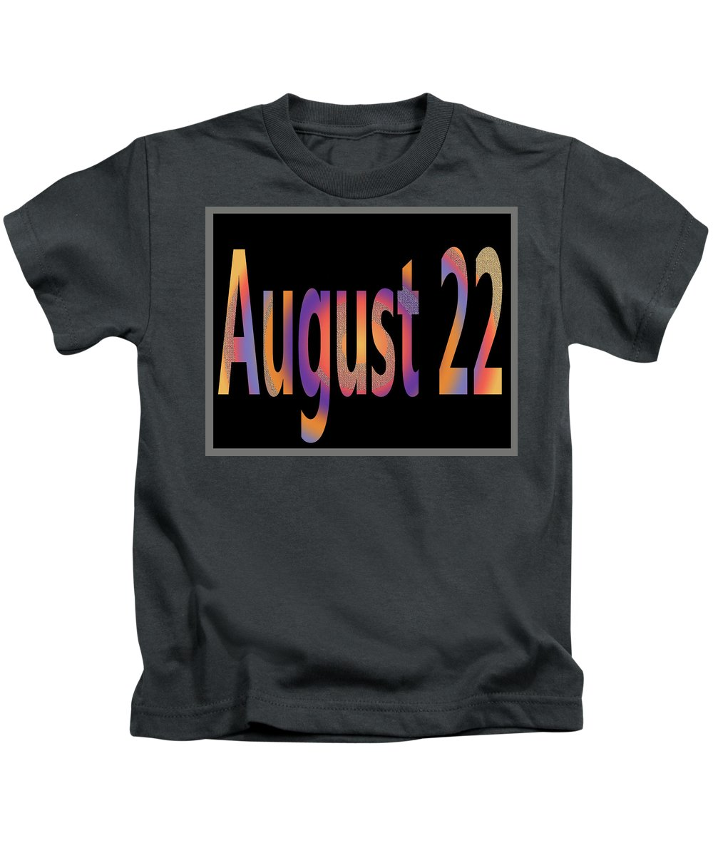August Kids T-Shirt featuring the digital art August 22 by Day Williams