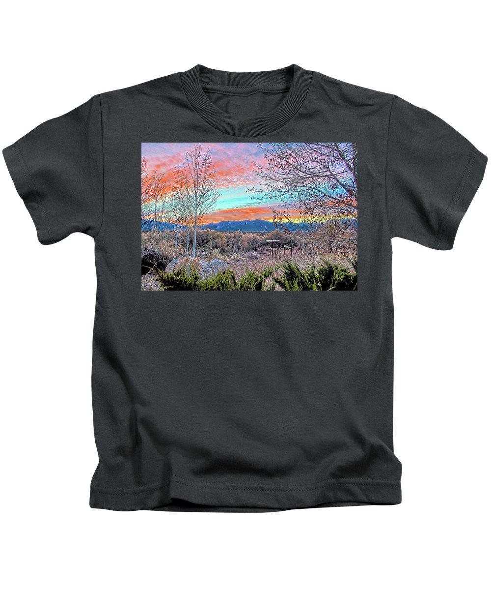 Aurora Kids T-Shirt featuring the photograph Aurora En El Prado by Charles Muhle