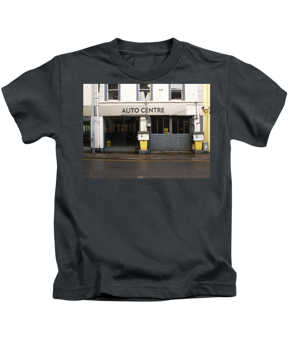 Auto Kids T-Shirt featuring the photograph Auto Centre by Tim Nyberg