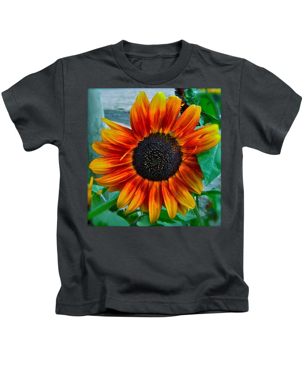 Sunflower Kids T-Shirt featuring the photograph Autumn Blessing by Gwyn Newcombe