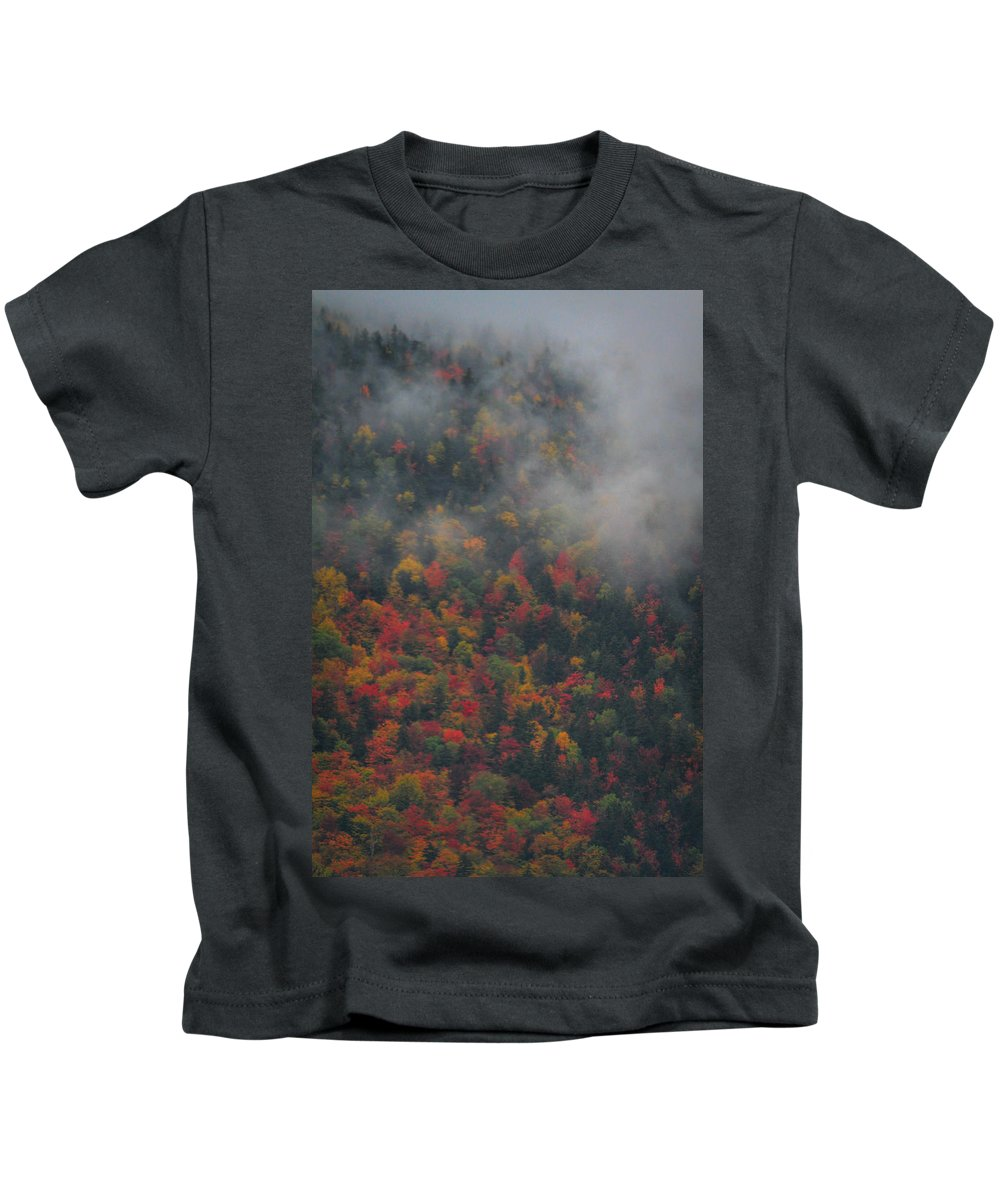 Autumn Colors In The Clouds Kids T-Shirt featuring the photograph Autumn Colors In The Clouds by Dan Sproul