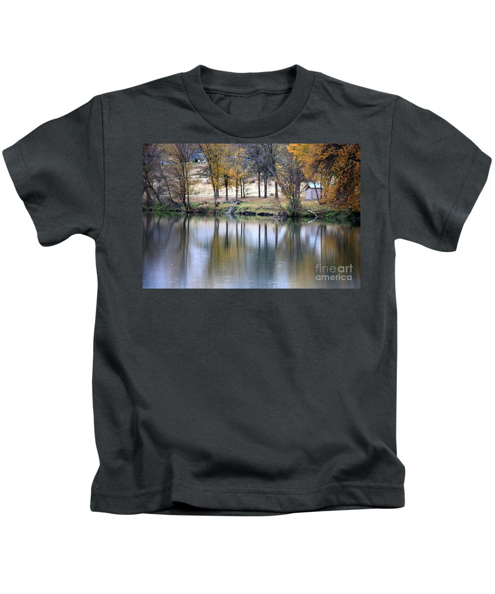 Fall Reflection Kids T-Shirt featuring the photograph Autumn Reflection 16 by Carol Groenen