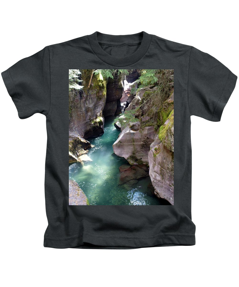 Glacier National Park Kids T-Shirt featuring the photograph Avalanche Creek Glacier National Park by Marty Koch