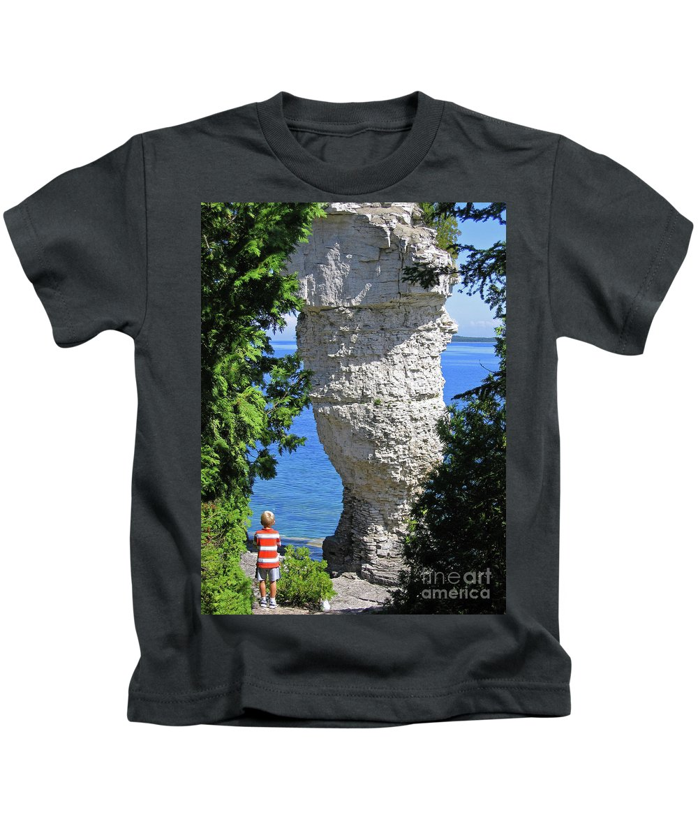 Stone Kids T-Shirt featuring the photograph Awesome All Around by Ann Horn