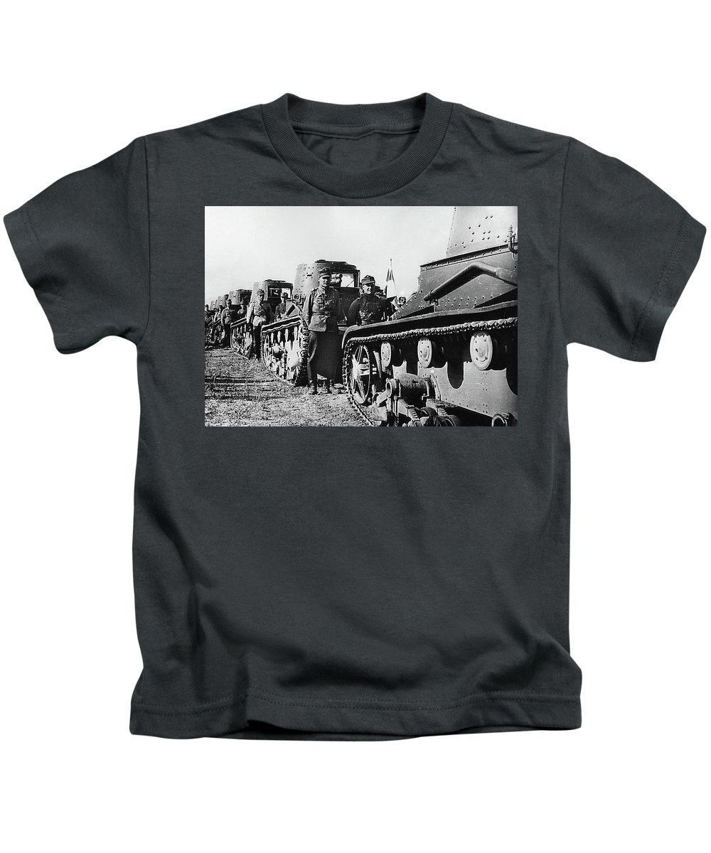 Axis Powers Finland Rumania And Germany 1942 Kids T-Shirt featuring the photograph Axis Powers Finland Rumania And Germany 1942 by David Lee Guss