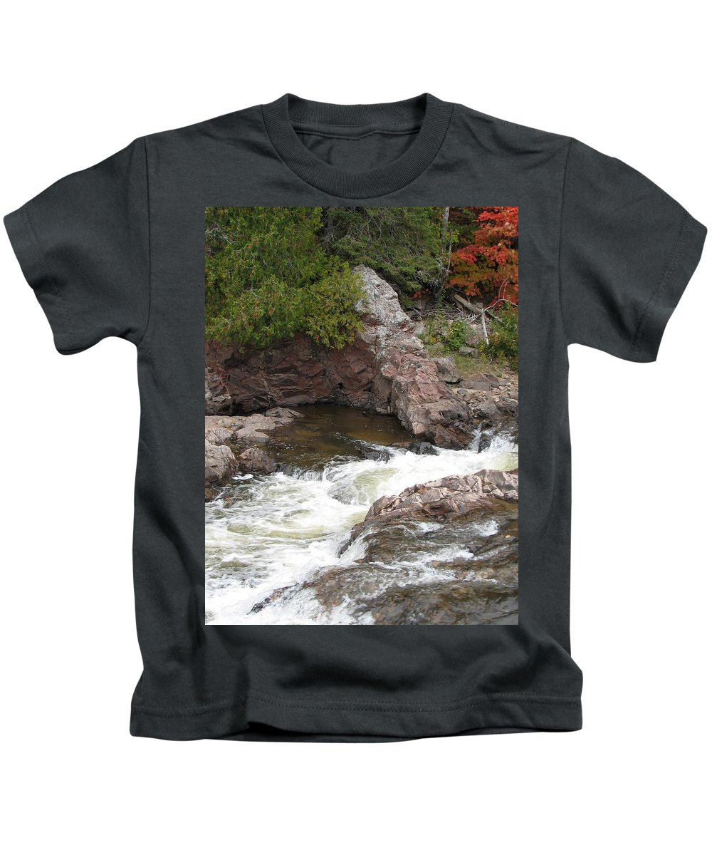 River Kids T-Shirt featuring the photograph Babbling by Kelly Mezzapelle