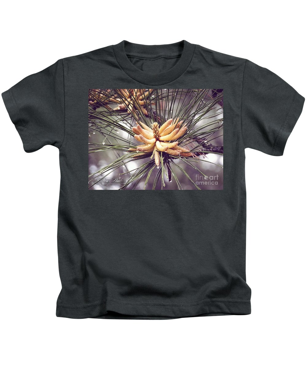 Kids T-Shirt featuring the photograph Baby Pine Cones by Melissa Messick