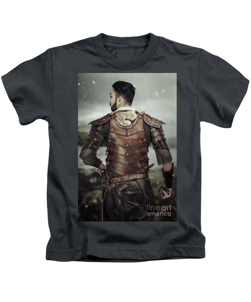 Got Kids T-Shirt featuring the photograph Back View Of Viking Costume by Amanda Elwell