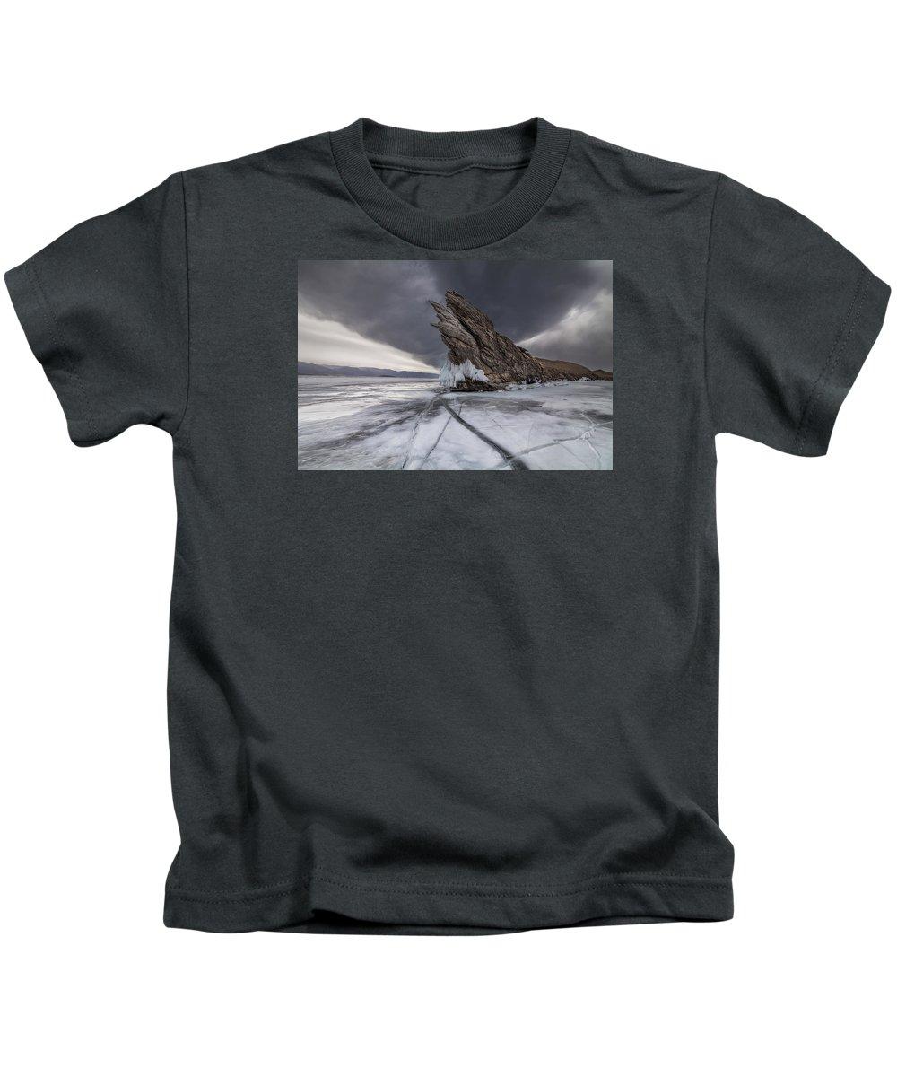 Baikal Kids T-Shirt featuring the photograph Baikal Monster by Anton Petrus