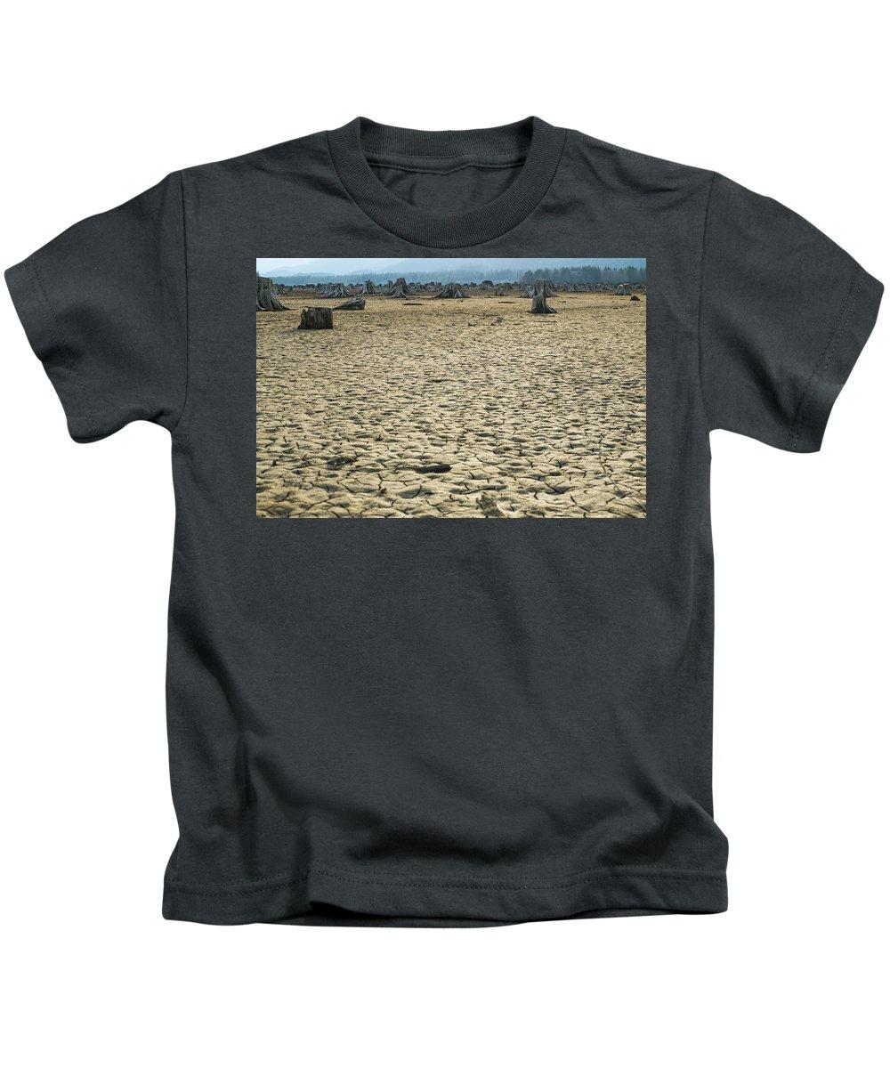 Sand Kids T-Shirt featuring the photograph Baker Lake Desert by Stephen Coletta