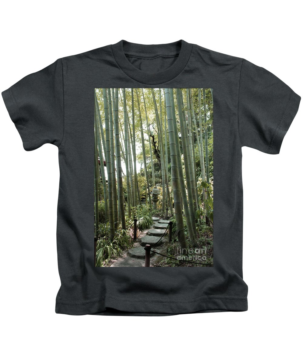 Bamboo Kids T-Shirt featuring the photograph Bamboo Forest by Eena Bo