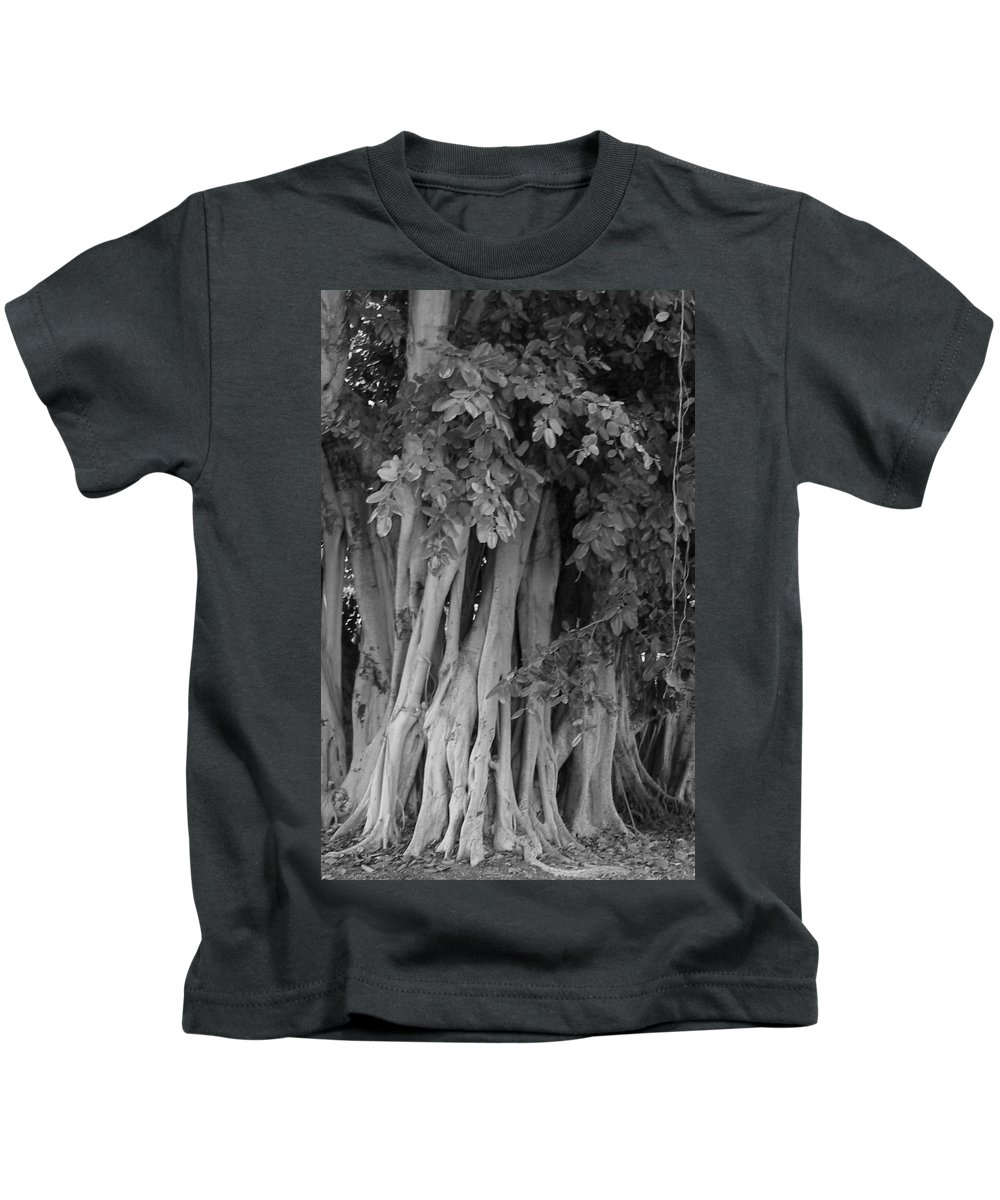 Kids T-Shirt featuring the photograph Banyans by Maria Bonnier-Perez