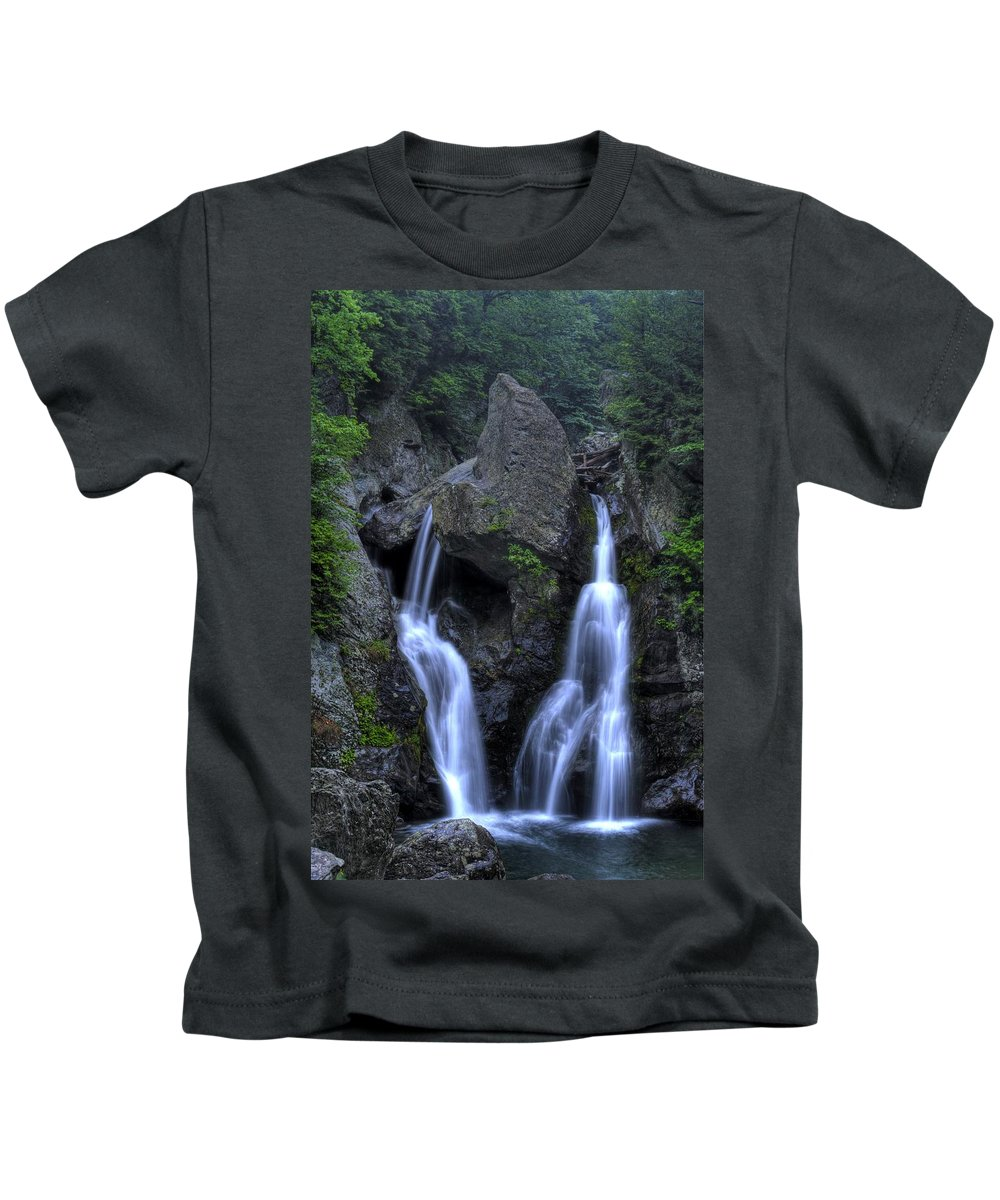 Waterfall Kids T-Shirt featuring the photograph Bash Bish Falls by Scott Wyatt