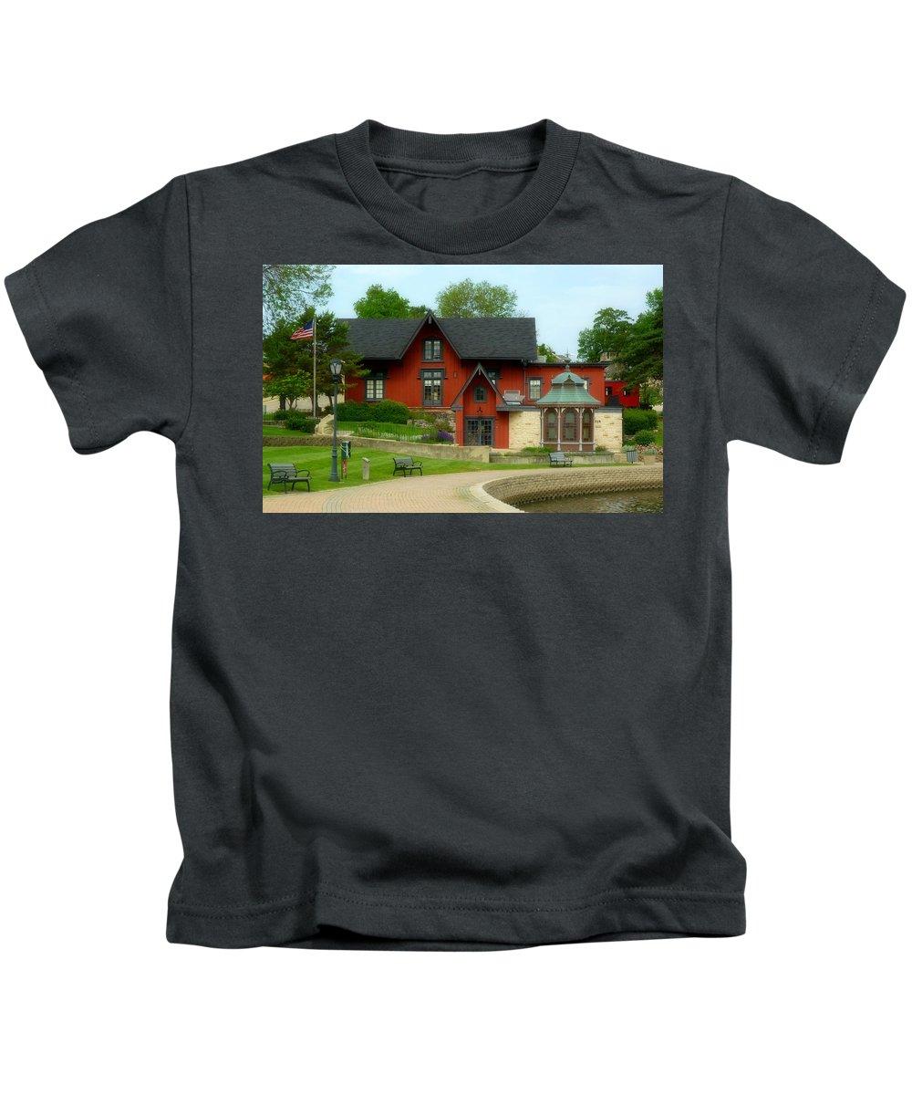Batavia Depot Kids T-Shirt featuring the photograph Batavia Depot by Ely Arsha