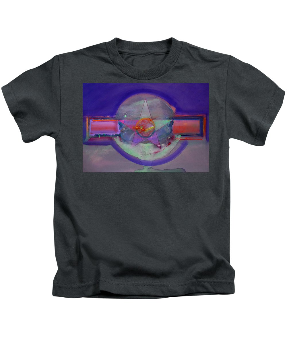 Usaaf Insignia Kids T-Shirt featuring the painting Battlefield by Charles Stuart