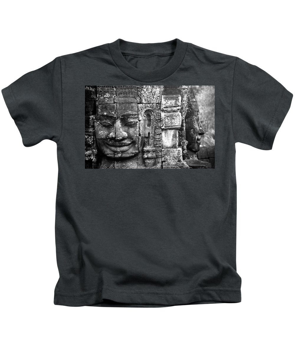 Bayon Temple Kids T-Shirt featuring the photograph Bayon IIi by Patrick Klauss
