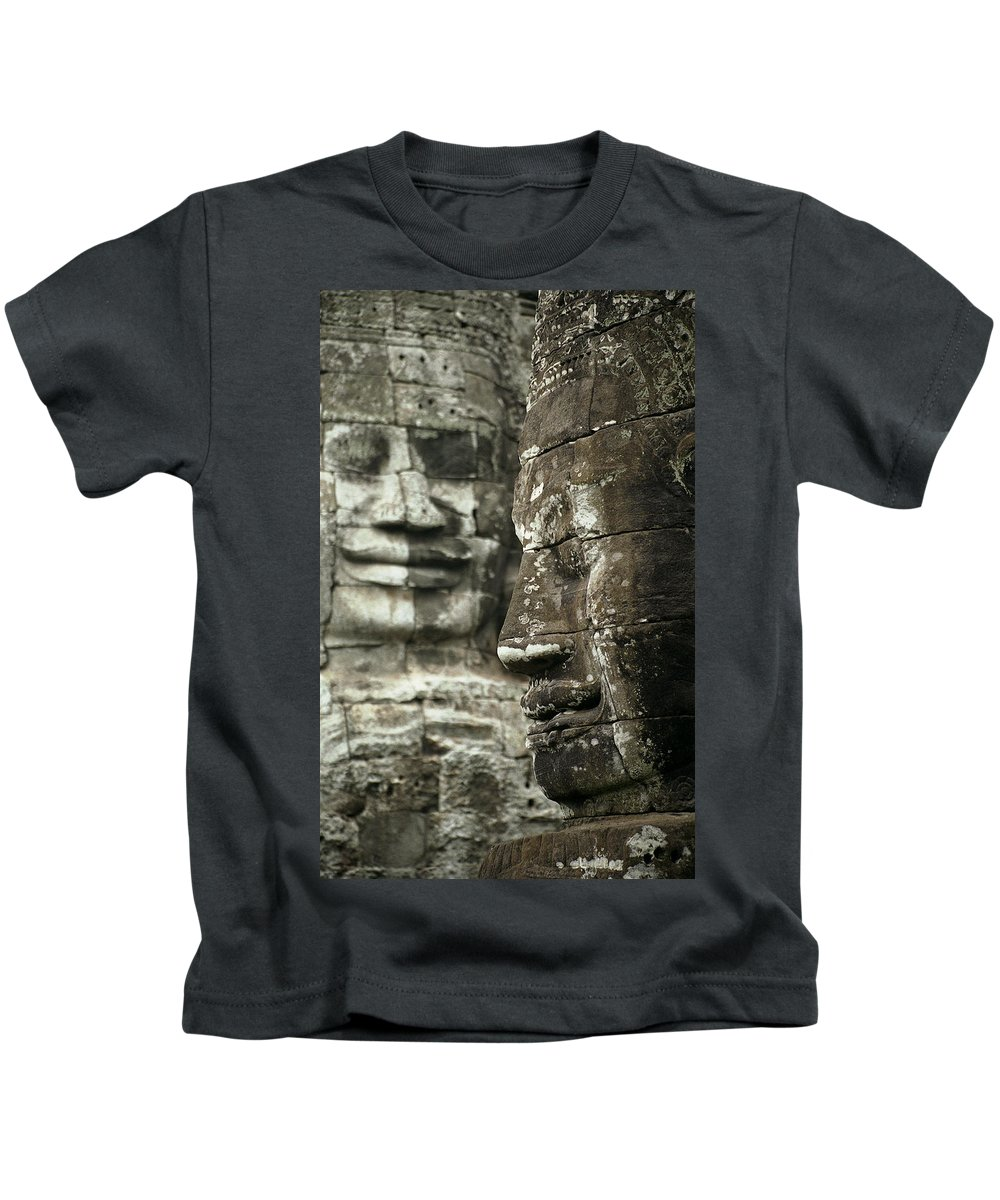 Bayon Kids T-Shirt featuring the photograph Bayonii by Patrick Klauss