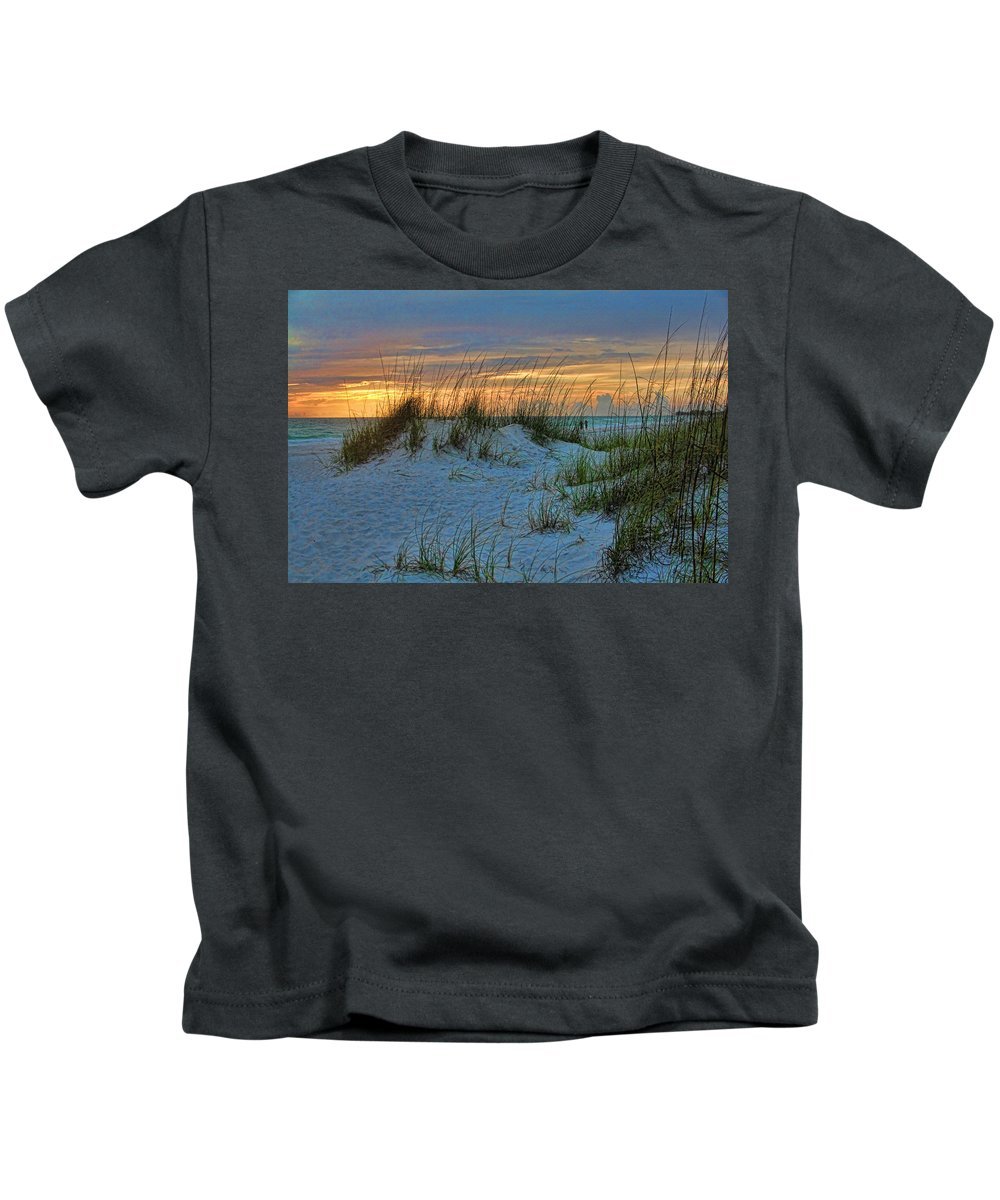 Hh Photography Of Florida Kids T-Shirt featuring the photograph Beach Grass And Sand Dunes by HH Photography of Florida