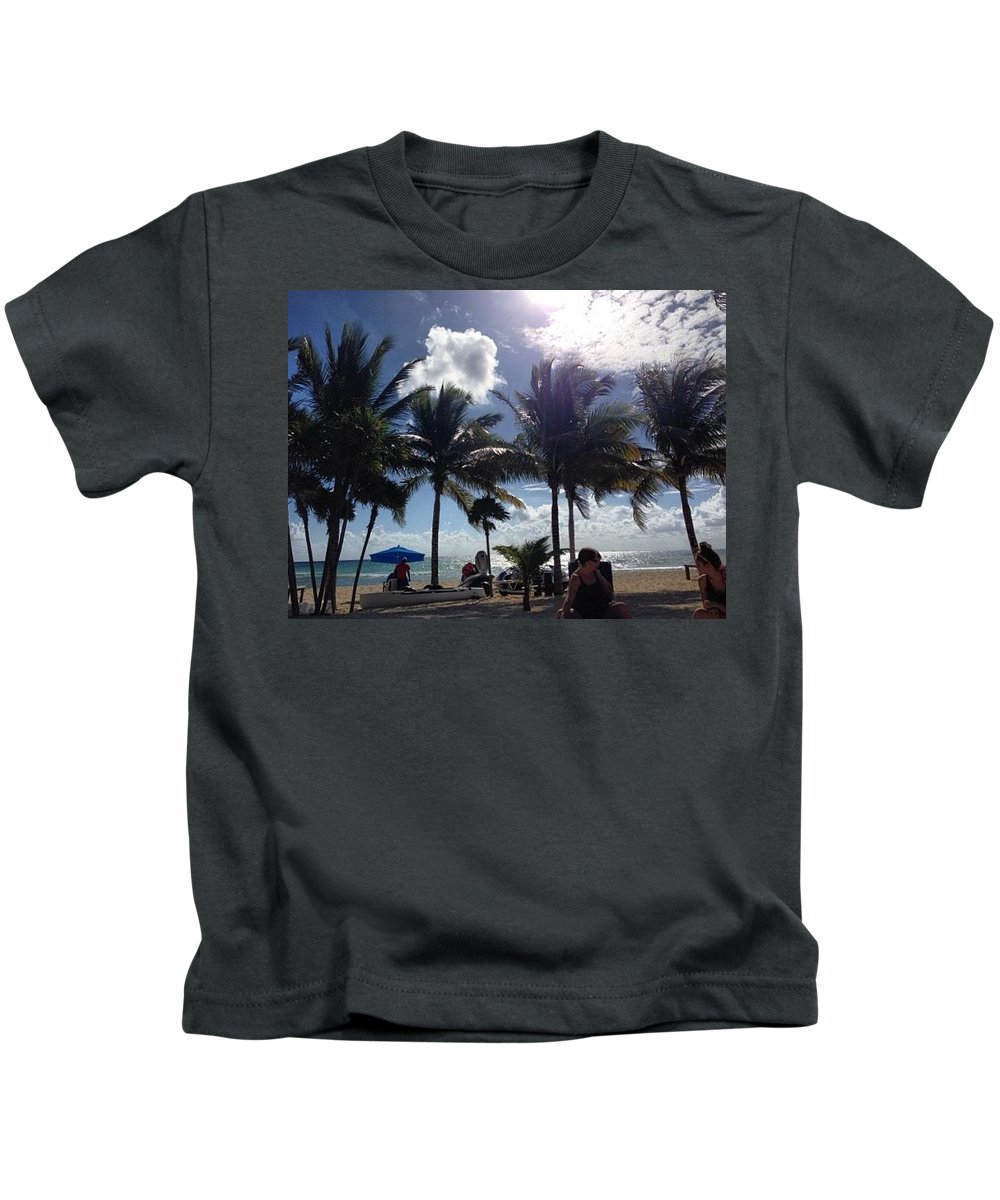 Mexico Kids T-Shirt featuring the photograph Beach In The Gulf by Jacqlyn Olecki