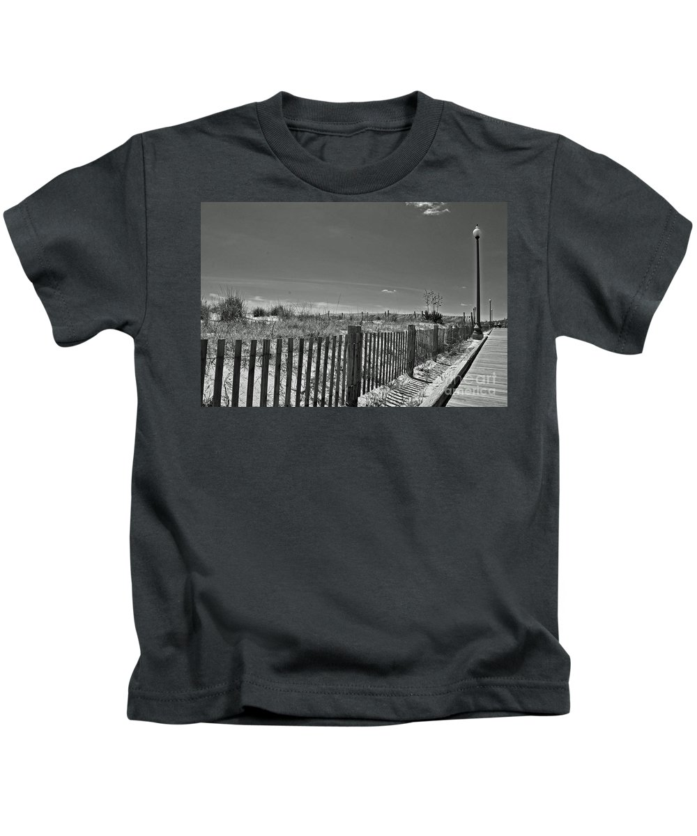 Rehoboth Kids T-Shirt featuring the photograph Beach Sky by Jost Houk