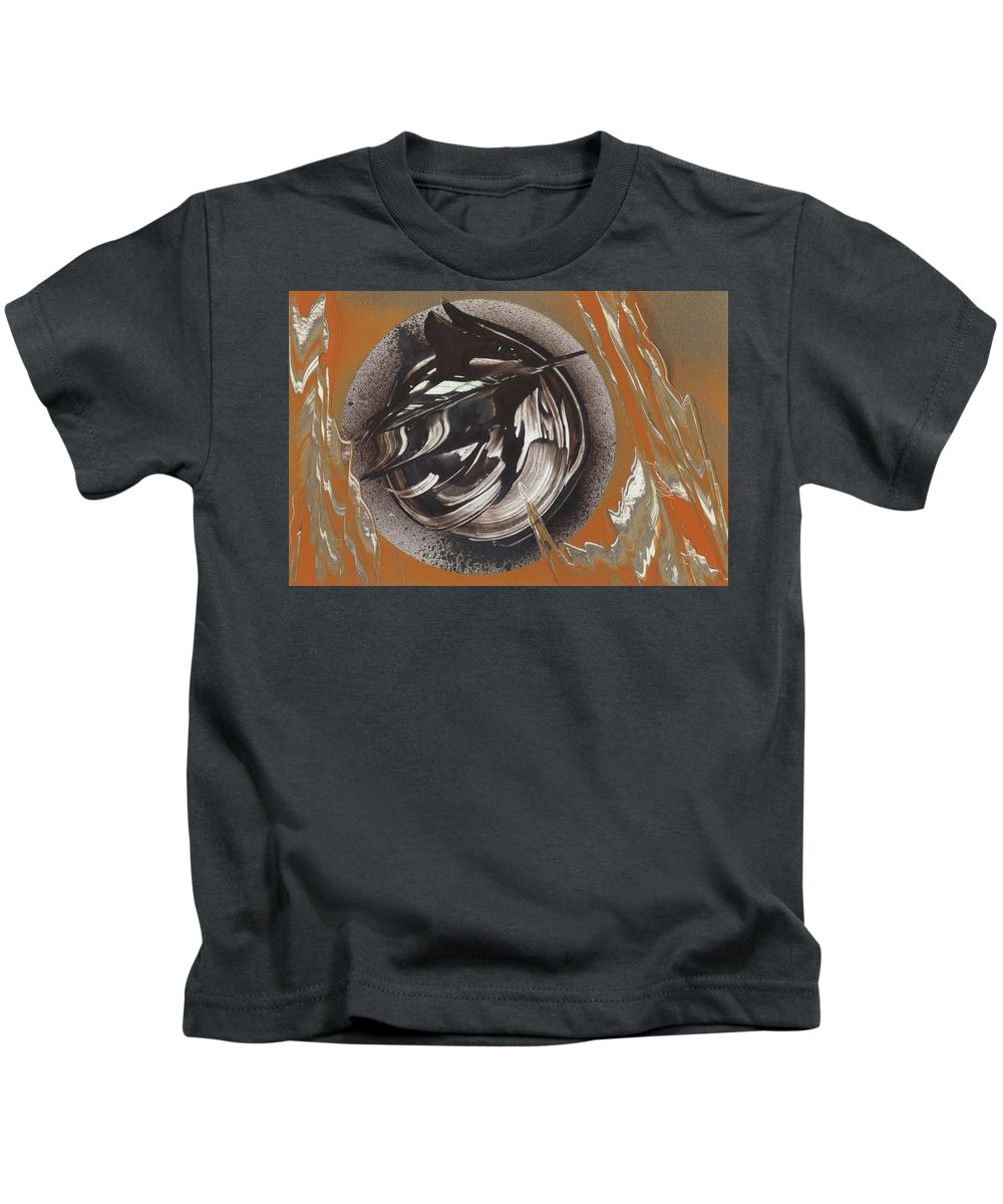 Bearing Kids T-Shirt featuring the painting Bearing by Jason Girard