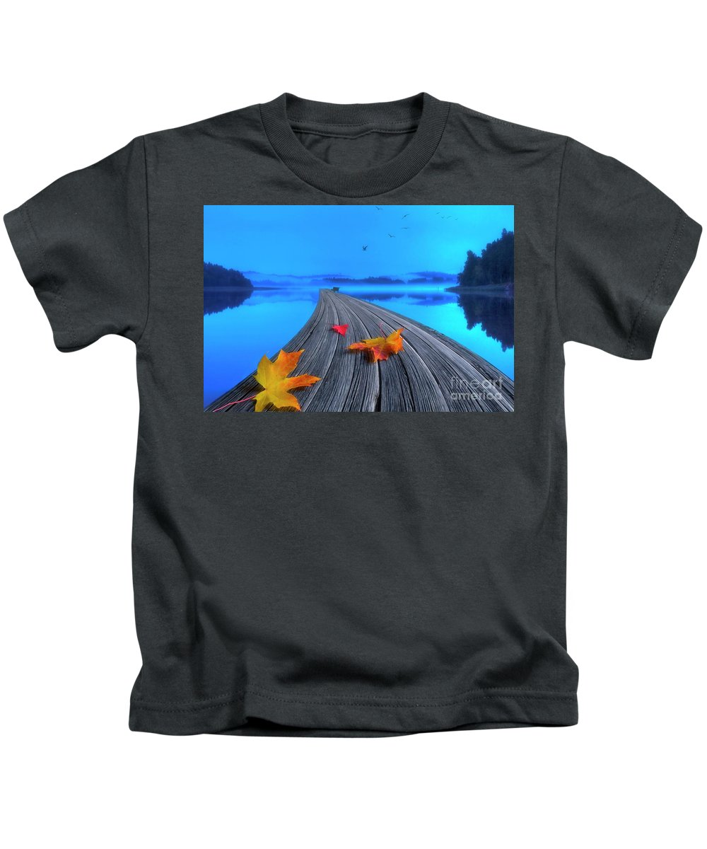 Artist Kids T-Shirt featuring the photograph Beautiful Autumn Morning by Veikko Suikkanen