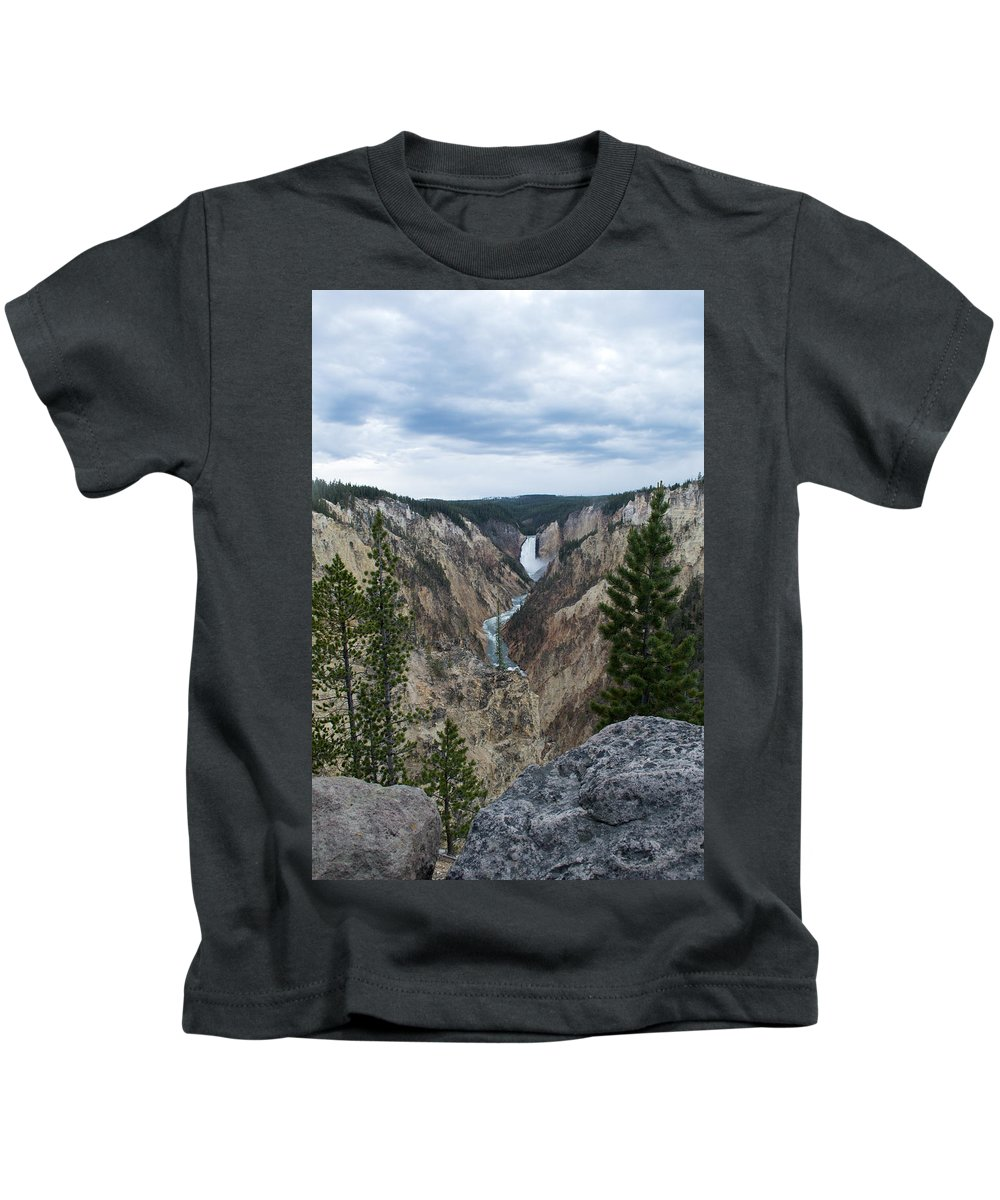 Yellowstone National Park Kids T-Shirt featuring the photograph Beautiful Landscape by Linda Kerkau