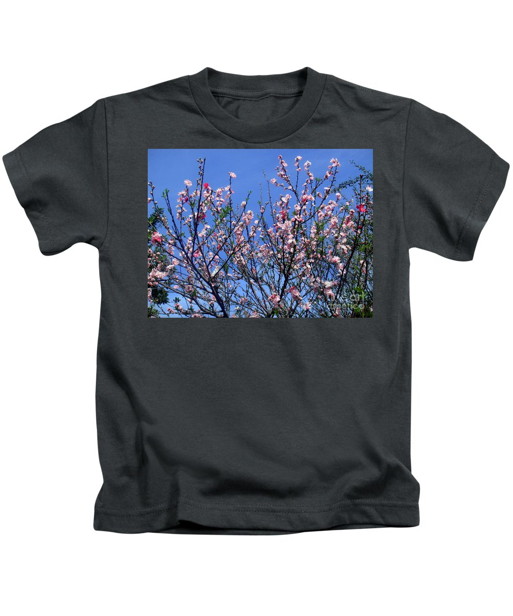 Beauty Kids T-Shirt featuring the photograph Beautiful Spring. Blooming Tree 1 by Sofia Metal Queen