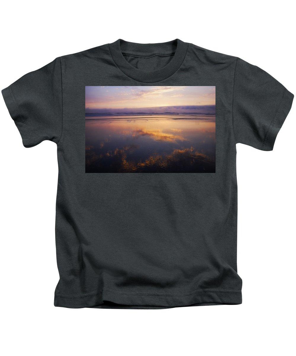 Sunset Kids T-Shirt featuring the photograph Beautiful Sunset Along Oregon Coast by Vishwanath Bhat