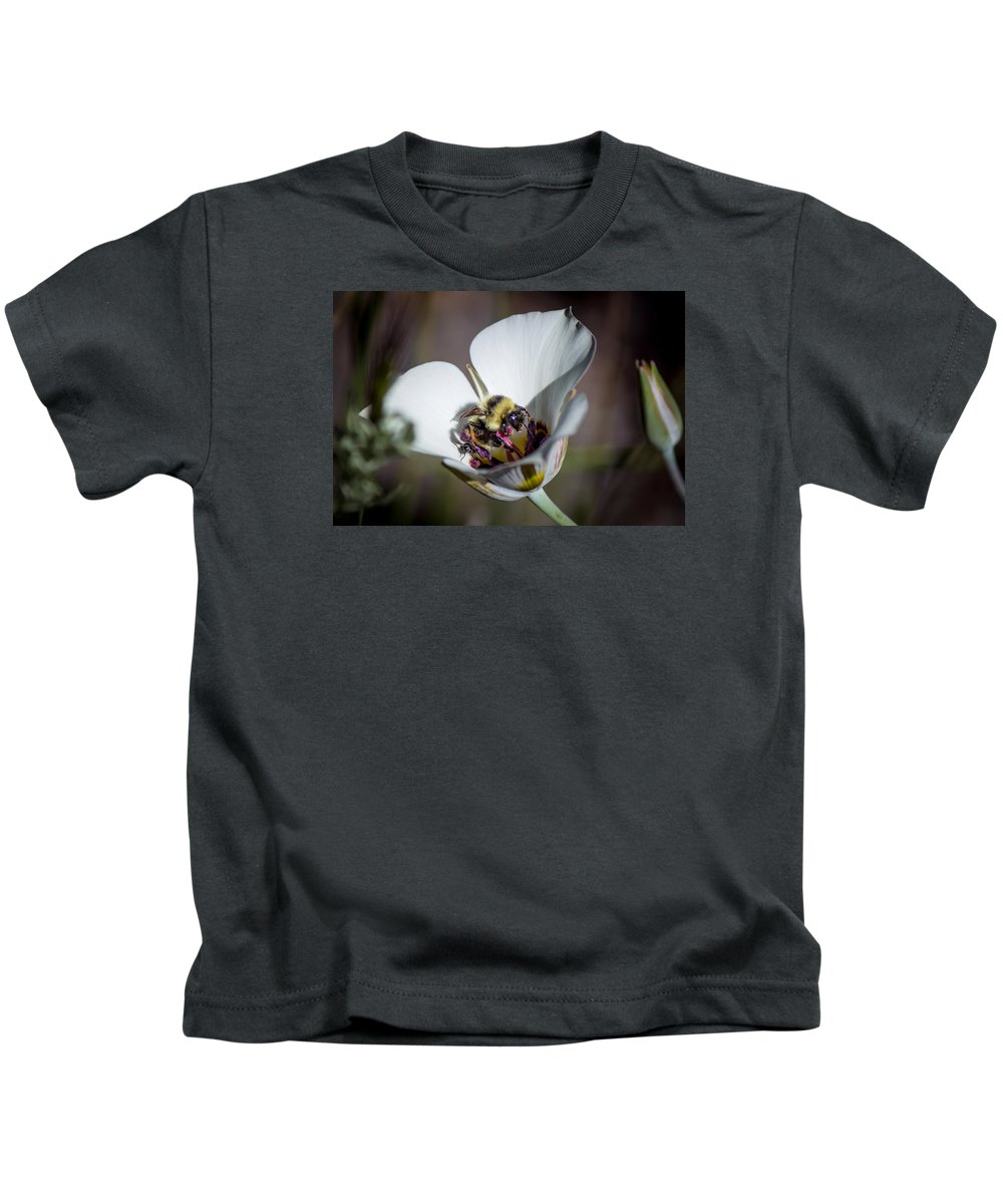 Kids T-Shirt featuring the photograph Bee by Reed Tim