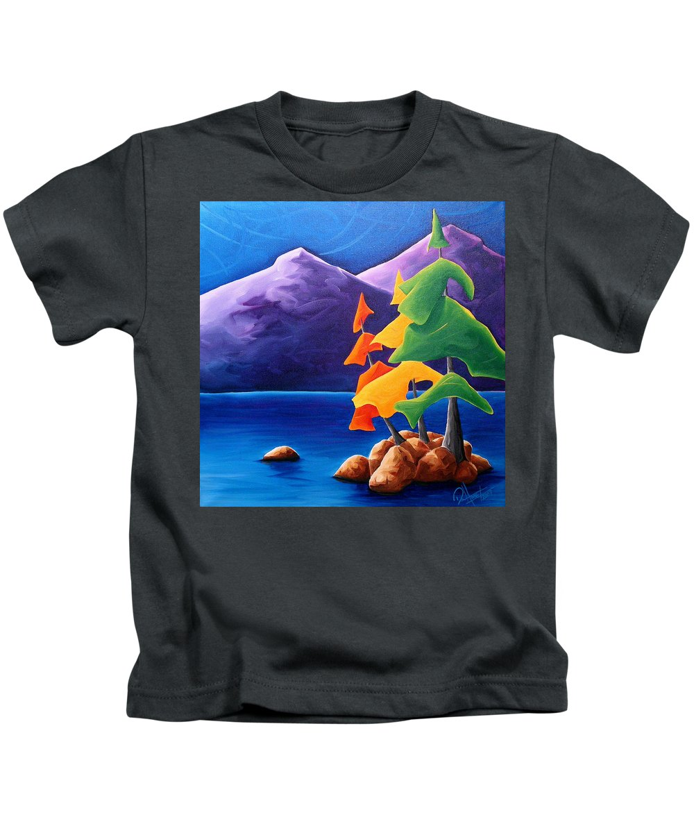 Landscape Kids T-Shirt featuring the painting Being Thankful by Richard Hoedl