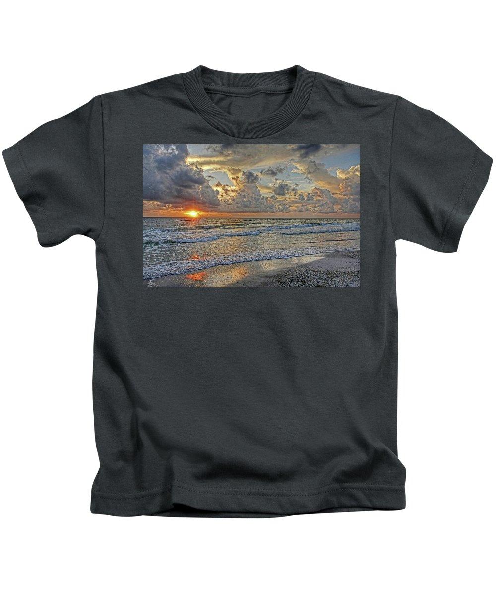 Florida Sunset Kids T-Shirt featuring the photograph Beloved - Florida Sunset by HH Photography of Florida