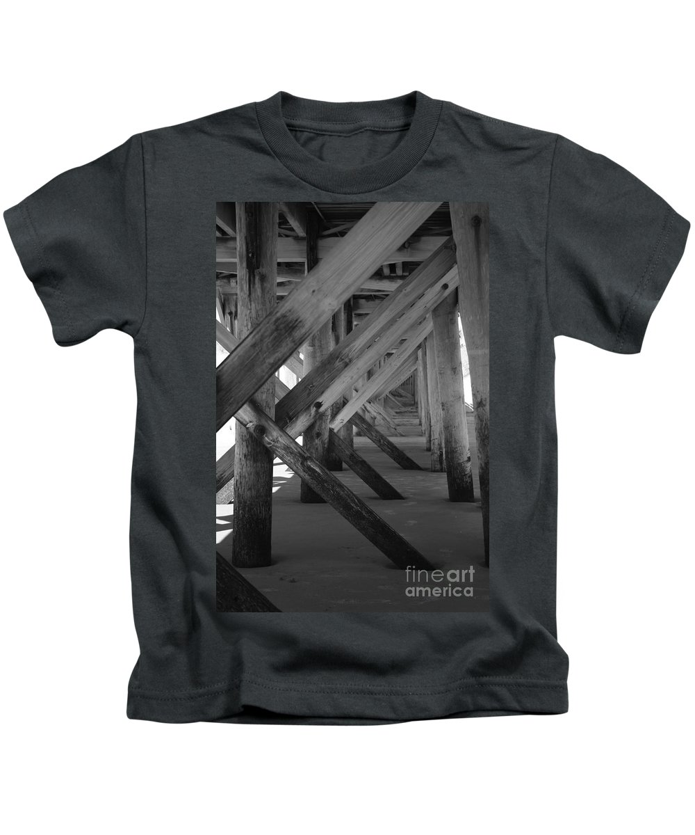 Kids T-Shirt featuring the photograph Beneath The Docks Day by Jamie Lynn