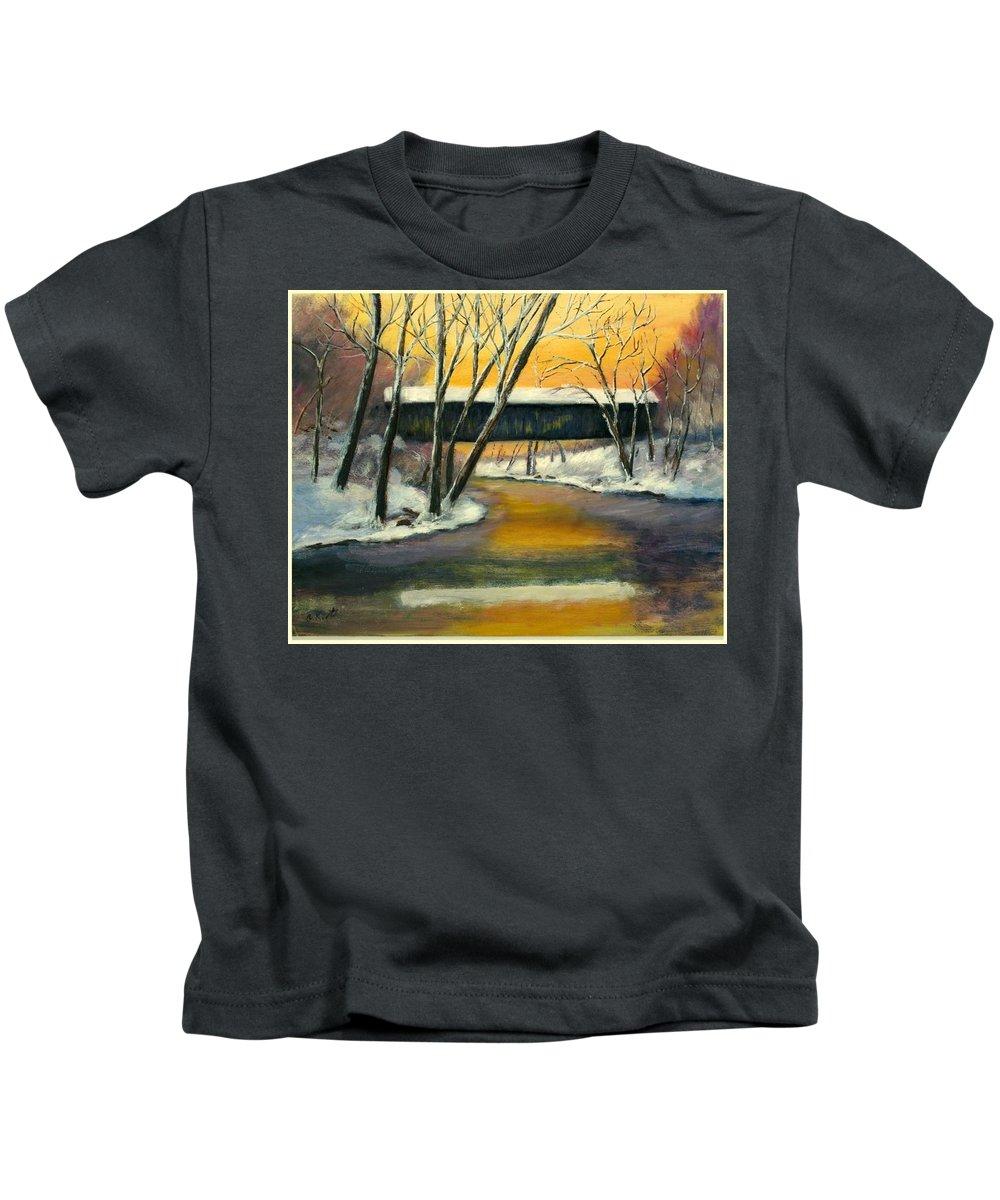 Kentucky Kids T-Shirt featuring the painting Bennett by Gail Kirtz