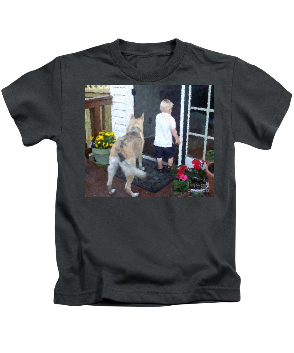 Dogs Kids T-Shirt featuring the photograph Best Friends by Debbi Granruth