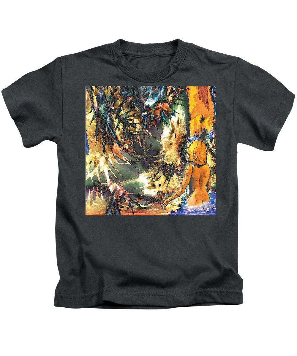 Kids T-Shirt featuring the digital art Beyond Sorrow by Tony Macelli