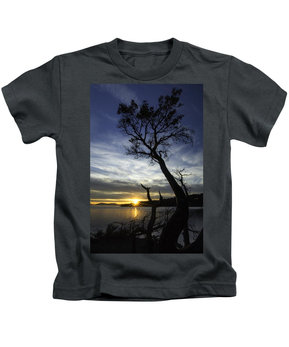 Bellingham Kids T-Shirt featuring the photograph Beyond The Bay by Ryan McGinnis