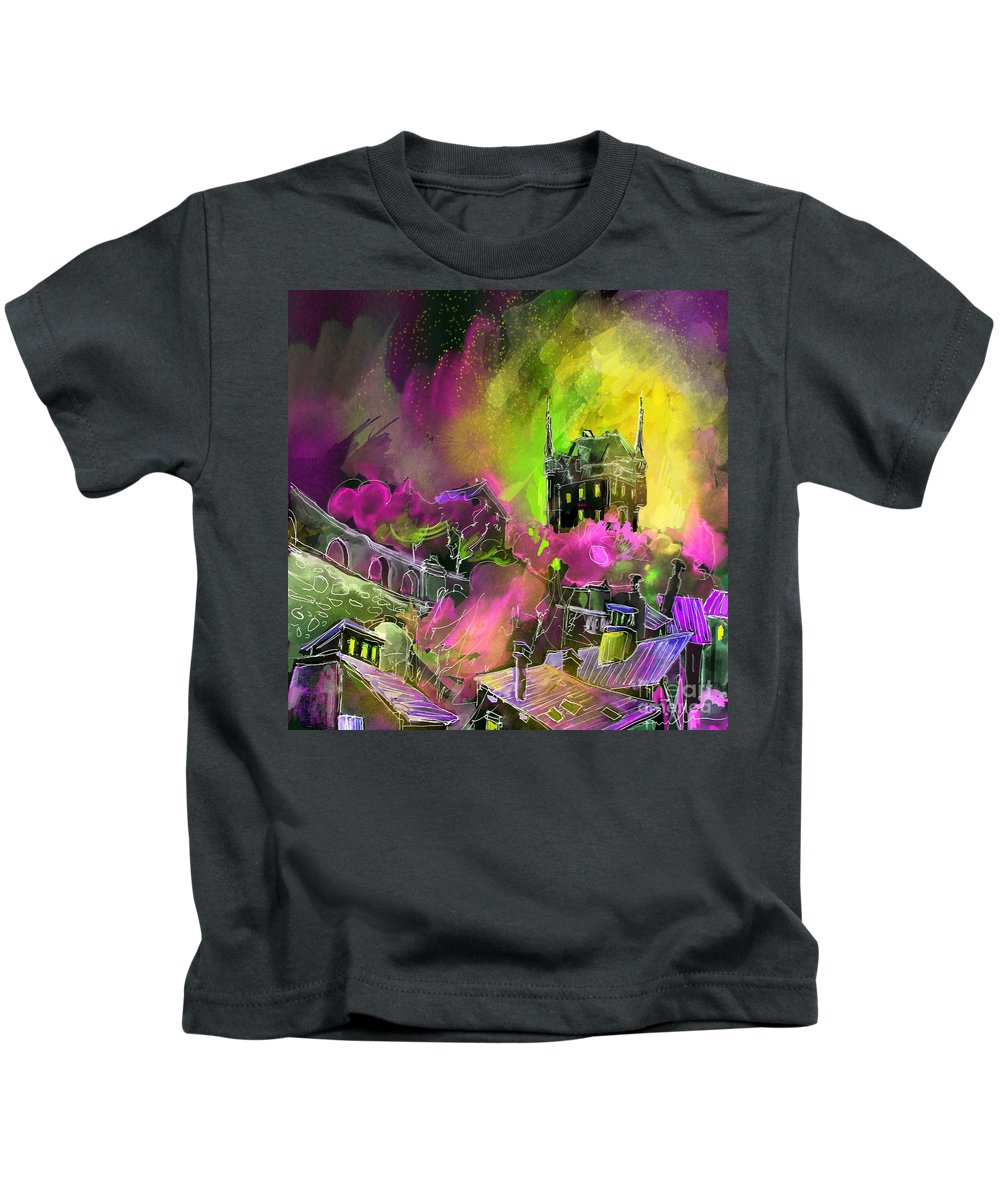 Biarritz Kids T-Shirt featuring the painting Biarritz 14 Bis by Miki De Goodaboom