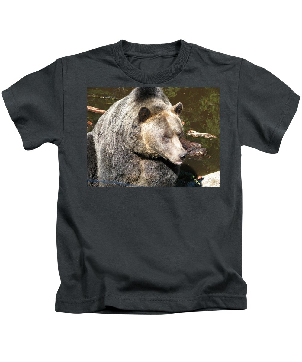 Bear Kids T-Shirt featuring the photograph Big Bear by Diane Berard