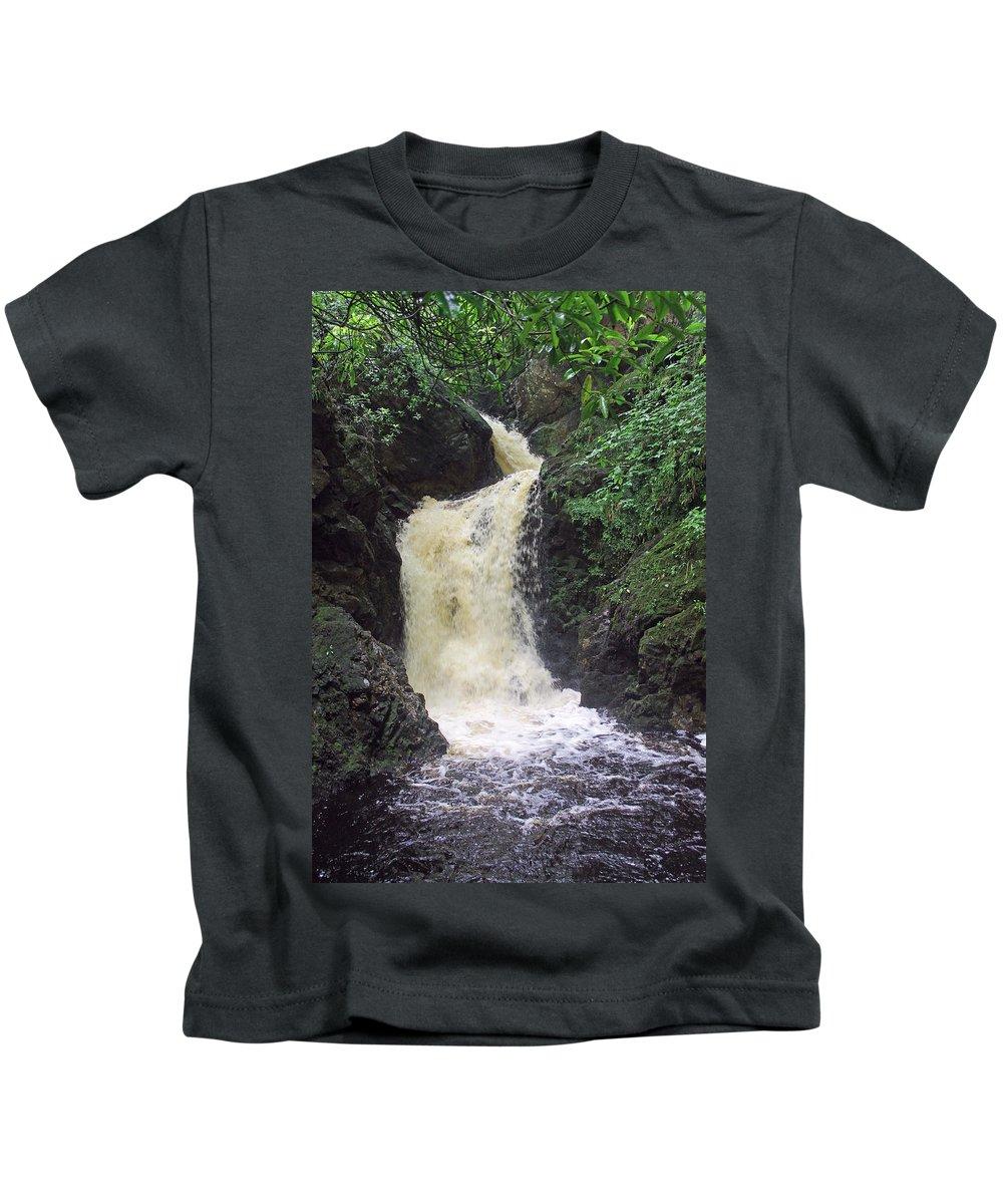 Big Burn Waterfall Kids T-Shirt featuring the photograph Big Burn Waterfall by Tony Murtagh